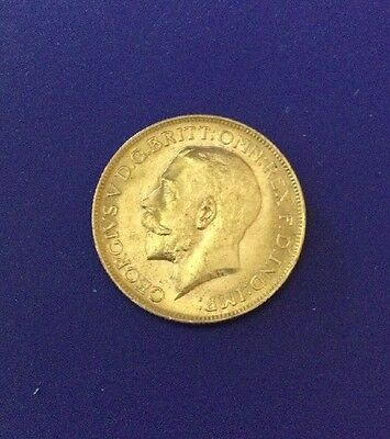 1915 King George V British Gold Sovereign, .2354 Ounces Gold