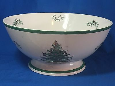 Spode China Christmas Tree pattern punch or large fruit bowl