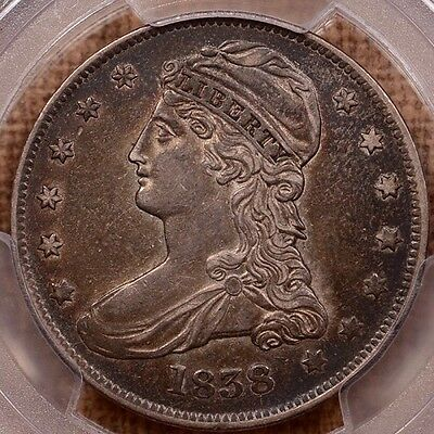 1838 Reeded Edge Capped Bust Half Dollar PCGS XF-45 CAC Cert # 26233289