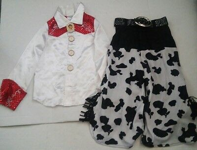 Disney Store Toy Story Jessie Girls Costume Size 4 XS Red Cowgirl Pants Shirt