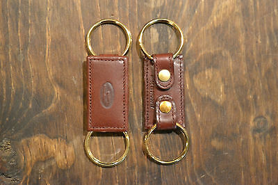 Hartmann Cordovan Leather Square Valet Key Fob Key Chain NEW OLD STOCK