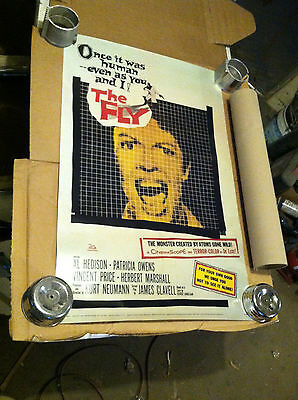 The Fly 1958 full sheet movie poster science fiction monster 39x26 older reprint