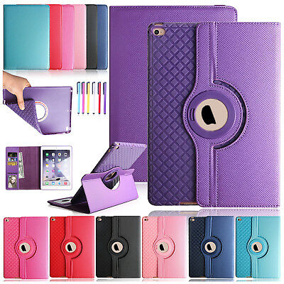 "360 Rotating Smart Leather Wallet Stand Case Cover For iPad 2 3 4/Mini/9.7"" 2018"