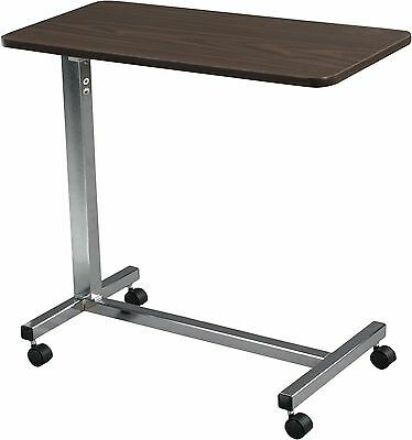 Hospital OverBed Table Non-Tilt Rolling Adjustable Height Bedside Laptop Table