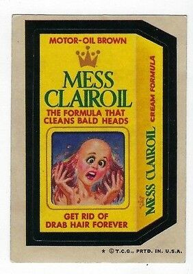 1973 Topps Wacky Packages 4th Series 4 MESS CLAIROIL FORMULA vg