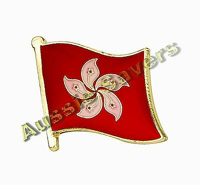 Hong Kong Flag Enamel Pin Badge Bnip