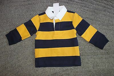 Gymboree Baby Boys Navy & Gold Long Sleeve Shirt - Size 6-12 Months - NWT