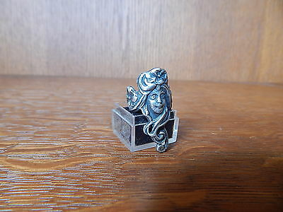 Vintage Art Nouveau Woman 925 Sterling Silver Forget Me Not Flower Ring Size 6