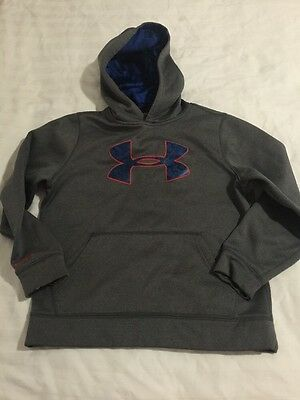 Boys Under Armour Storm Big Logo Loose Fit Pullover Sweatshirt Hoodie - size YMD