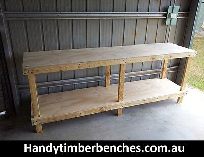 Timber Work Bench 2400 x 600 x 900