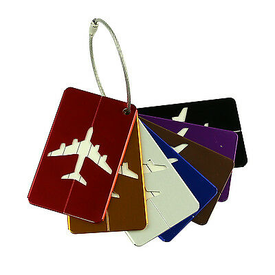 7Pcs multicolor Travel Luggage Tags ID Labels Suitcase Airlines Baggage Bag