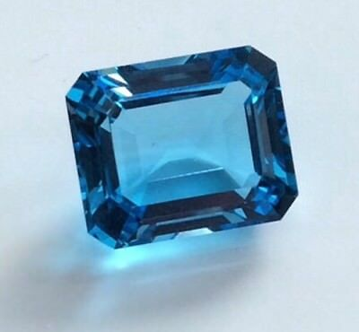 EMERALD CUT SHAPE NATURAL BLUE TOPAZ 12x10MM LOOSE GEMSTONE