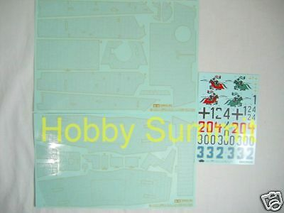 Tamiya 1/16  KING TIGER Tank  DECAL Set  w/ Zimmerit  re  R/C  Static #56018