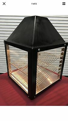 Heated Food Warming Display Case Wisco 690-16  Commercial Pizza Pretzel Warmer