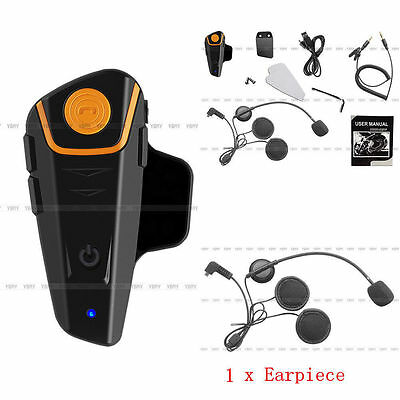 1000m BT-S2 Motorcycle Motorbike Helmet Bluetooth Intercom Headset FM Radio ZY