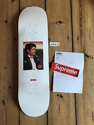 SUPREME Michael Jackson MJ Skate Deck Skateboard - White - 2017 *NEW*