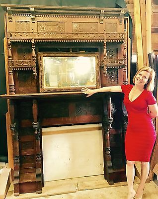 Antique FIreplace mantel for bar or large  Victorian home restoration