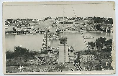 1924 Rp Postcard Building Railway Bridge Murray Bridge Paddlesteamer 'tyro' G77