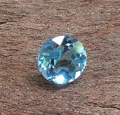Round Cut Shape Natural Blue Topaz 7Mm Faceted 1 Pc Loose Gemstone