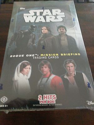 Topps Star Wars Rogue One mission briefing sealed hobby box