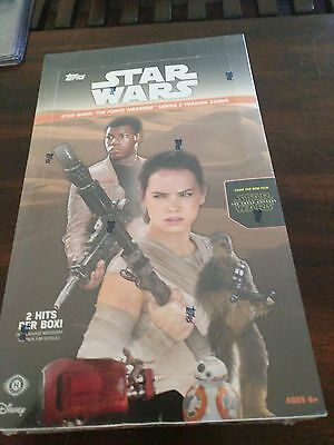 Topps Star Wars  the Force Awakens series two 1 sealed hobby box