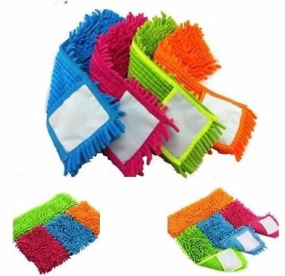 Pack Of  2 MICROFIBRE MOP Heads Replacement Dust Cloth Washable Cleaning Pad New