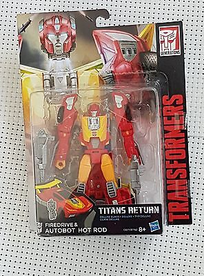Transformers Titans Return (Hasbro)Firedrive&hot Rod (Deluxe Class)