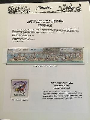 Australia 1988 Seven Seas Hingeless 9 Pages - Muh Stamps