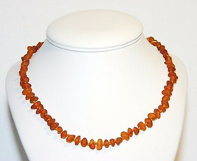 Natural UNPOLISHED Baltic amber baby necklace, cognac chips beads 33 cm/13 inch