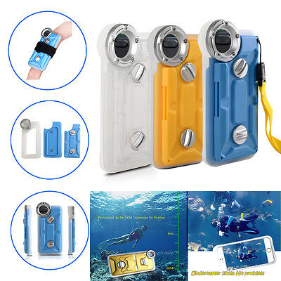 Underwater Photography Diving Waterproof Case Cover For Apple iPhone 6 6S 7 Plus