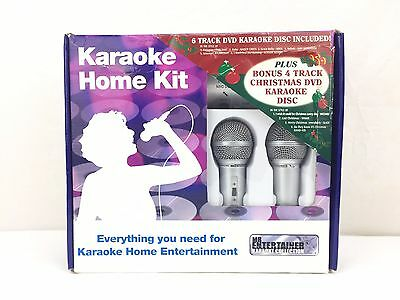 Karaoke System Dual Microphone Mixer Kit For Your DVD/CD Player with Karaoke CDs