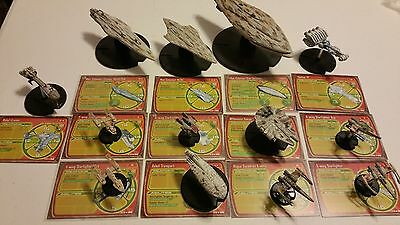 Star Wars Miniatures Starship Battles Massive Rebel Fleet 13 Ships
