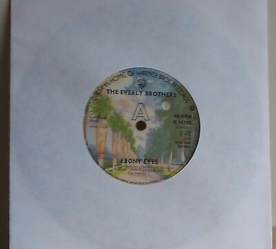 THE EVERLY BROTHERS/Ebony Eyes 7 inch single  (1963-re-issued 1976)