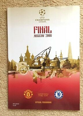 Edwin van der Sar Signed Programme Manchester United 2008 Moscow Autograph PROOF