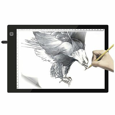 Flicker-free Drawing Copy Tracing Stencil Board Table Pad with USB & Scale AU