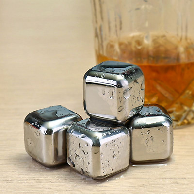 Stainless Ice Cubes Whisky Ice Stones Wine Drinks Cooler Cubes Whiskey Rocks