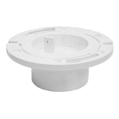 "3"" x 4"" Plumbfit PVC Closet Flange with Plastic Swivel Ring and Knockout ,PartNo"