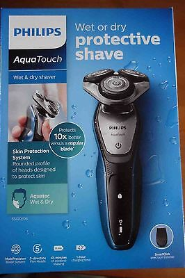 Philips AquaTouch Cordless Wet & Dry Shaver Trimmer DualCut Technology S5420/06