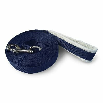 New LUNGE REIN/LEAD/LINE for Horses/Dogs *7m Long With PADDED HANDLE Navy Blue*