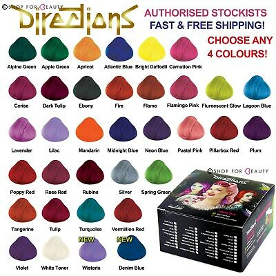Box of 4 Pots La Riche Directions Semi-Permanent Hair Dye All Colours