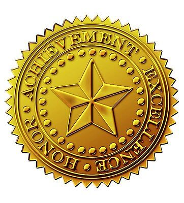 "Great Papers! Starburst Embossed and Gold Foil Certificate Seal, 1.75"", 48 Count"