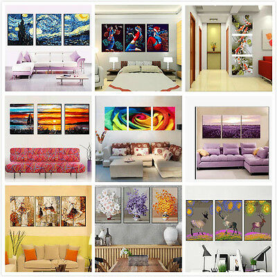 Large Set of Three Painting By Number Kit Canvas 3*40*50cm F3P020028 AU STOCK