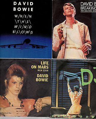 "DAVID BOWIE - 7"" 45 RPM Vinyl Record Collection - £4.99 each"