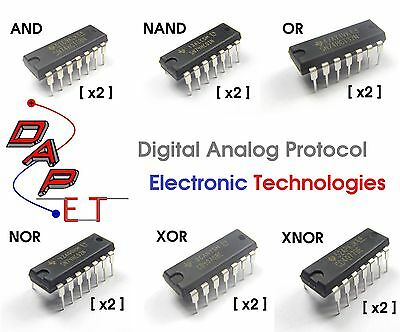 DAPET Logic Gate Set (AND, NAND, OR, NOR, XOR, XNOR) 2-Each (12 Total)