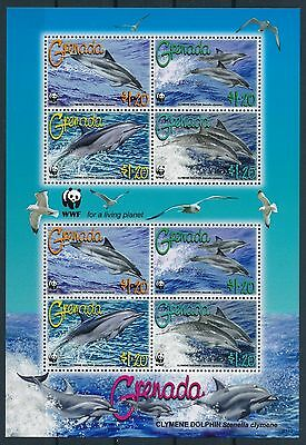 [GBIN0049] Grenada 2007 WWF Dolphins good very fine MNH sheet
