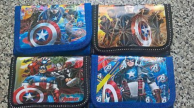 UK Seller Kids Avengers Wallet Boys Coin Bag Children's Superhero Zip Purse