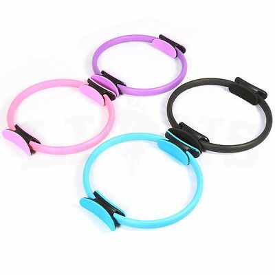 Resistance Pilates Rings Circle Gymnastic Aerobic Fitness Wheel Handle Yoga Ring