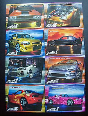 2 Fast 2 Furious Limited Edition 8x Post Cards NEW