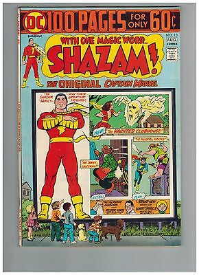 SHAZAM! 13   100 Page Giant with Captain Marvel Family!  1974 VF