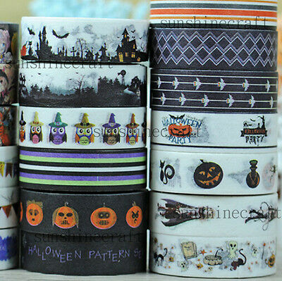 10m halloween washi paper tape handmade craft scrapbook gift wrap home decor z